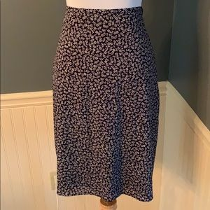 VTG 90's Express Stretch Navy Floral Pencil Skirt